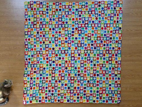 crochet squares, crochetbug, crochet circles, Hilbert curve, stripes, cats, crochet blanket, crochet afghan, crochet throw