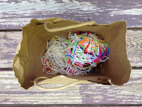 crochetbug, yarn scraps, scrap yarn, use what you have, magic yarn ball