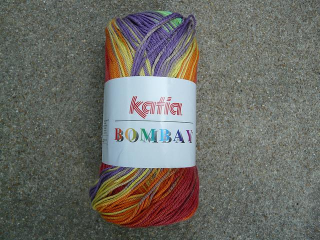 A skein of Fil Katia's Bombay yarn