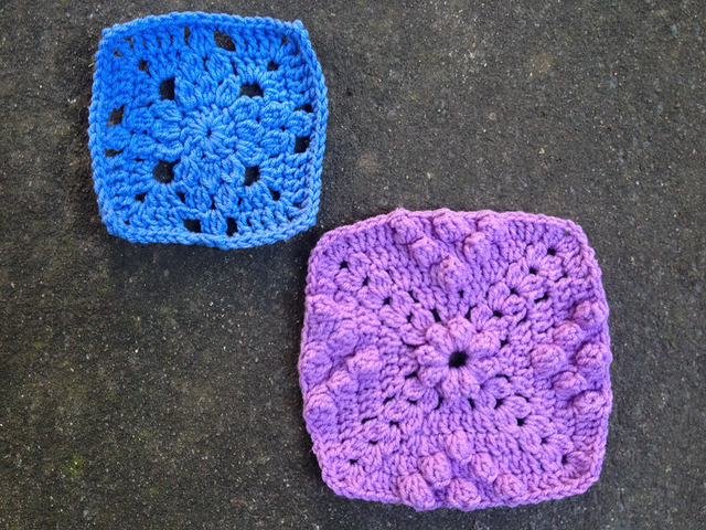 crochet squares 69 and 56 from 101 crochet squares by jean leinhauser