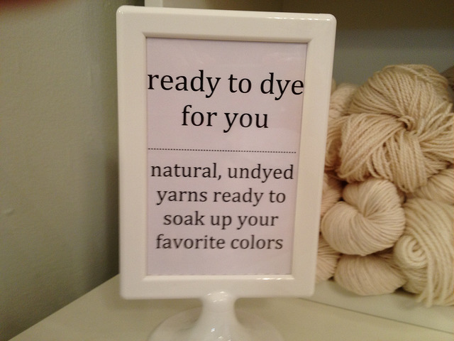 Ready to dye yarn