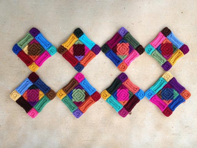 crochet square motifs