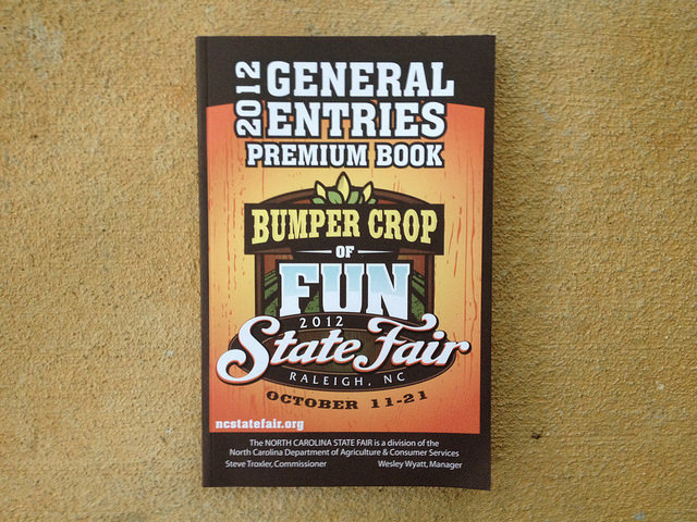 North Carolina State Fair premium book