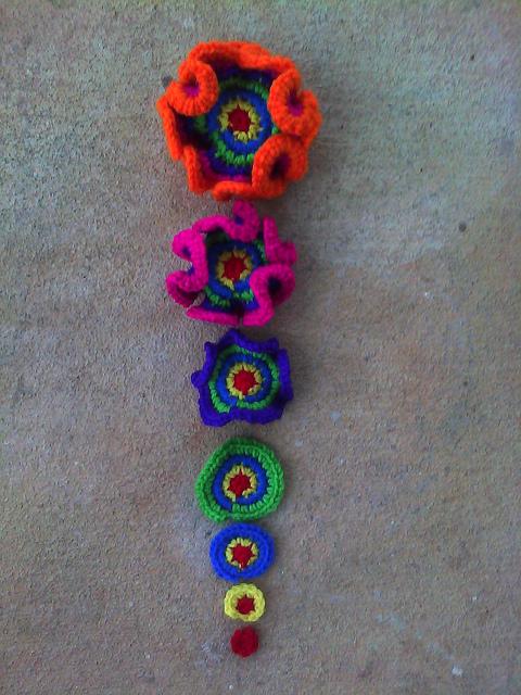 Seven crochet hyperbolic planes