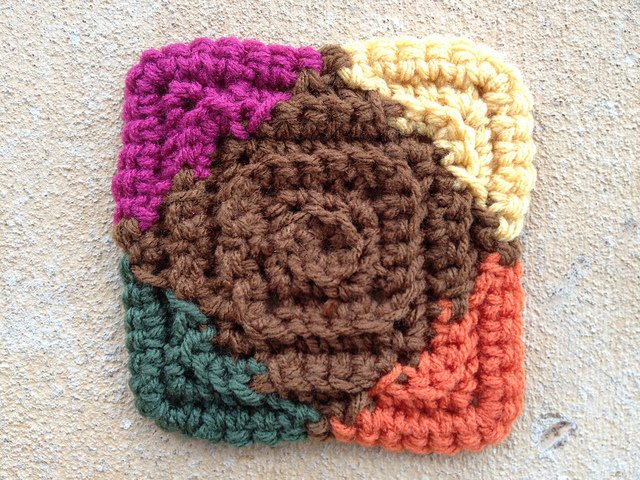 multicolor crochet square