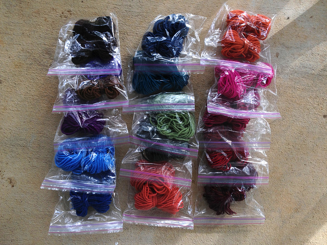 lengths of yarn for joining