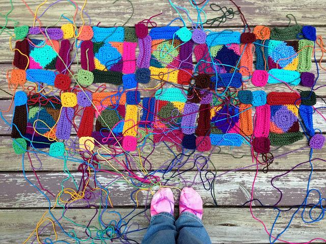 ten future textured crochet motifs made from textured crochet squares and textured crochet rectangles