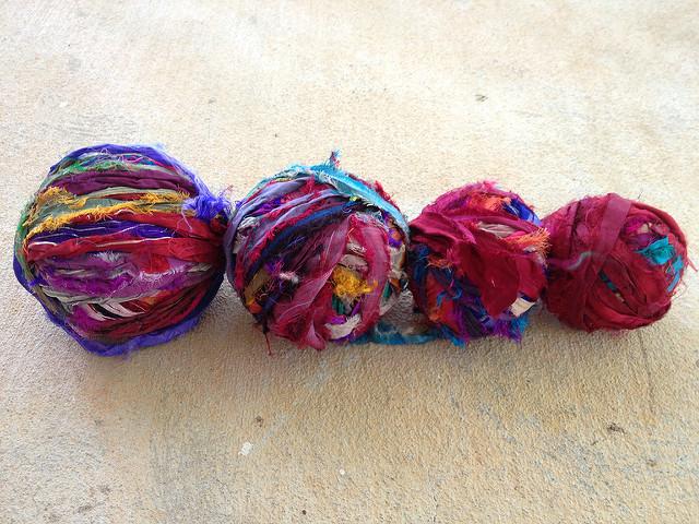 sari ribbon balls