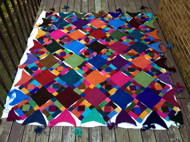 crochetbug, crochet squares, crochet rectangles, crochet triangles, crochet afghan, crochet blanket, crochet throw, textured crochet