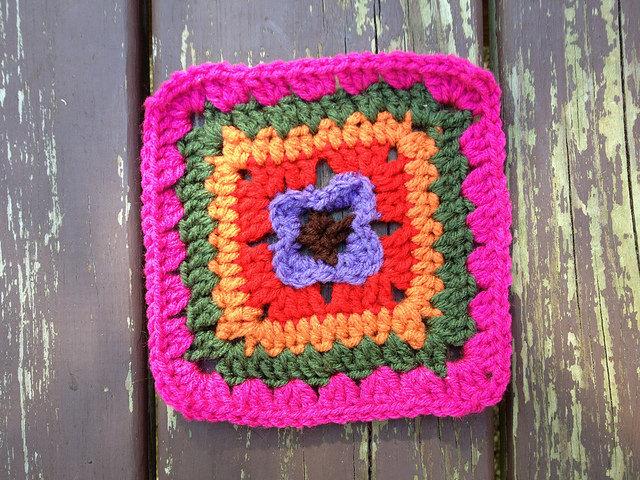 crochet square for a crochet purse
