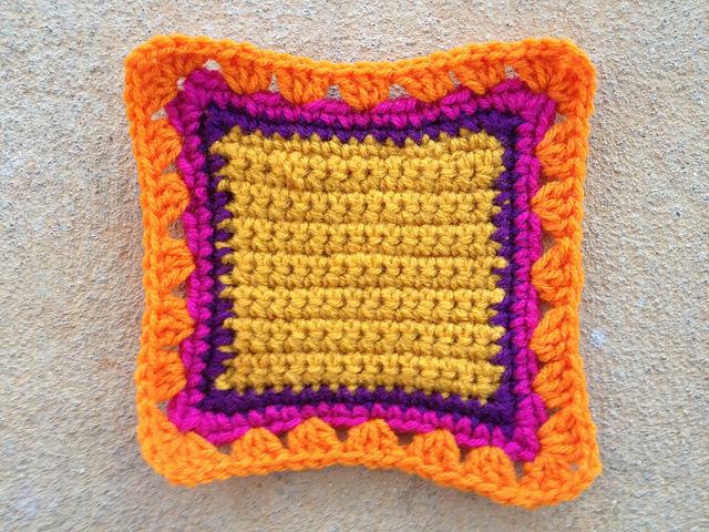 crochet fat bag crochet square
