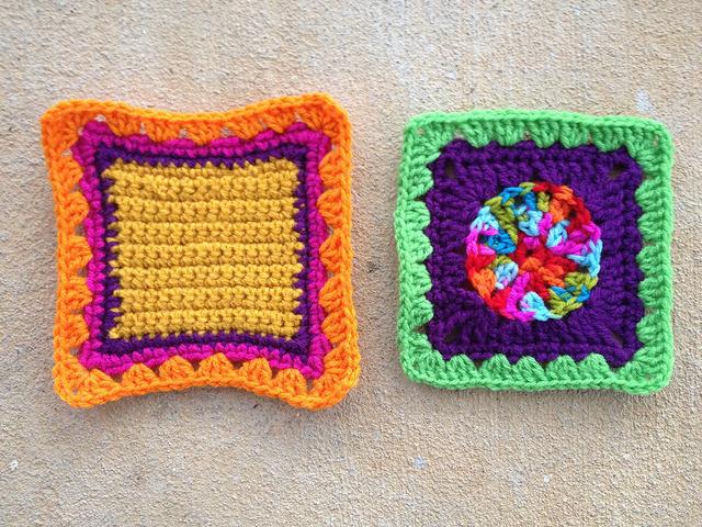 crochet fat bag crochet squares
