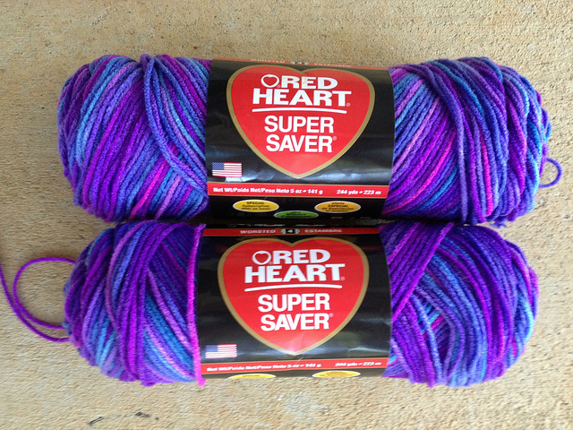 crochetbug, crochet, red heart super saver, grape fizz