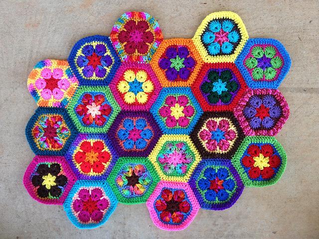 crochet hexagons meditation
