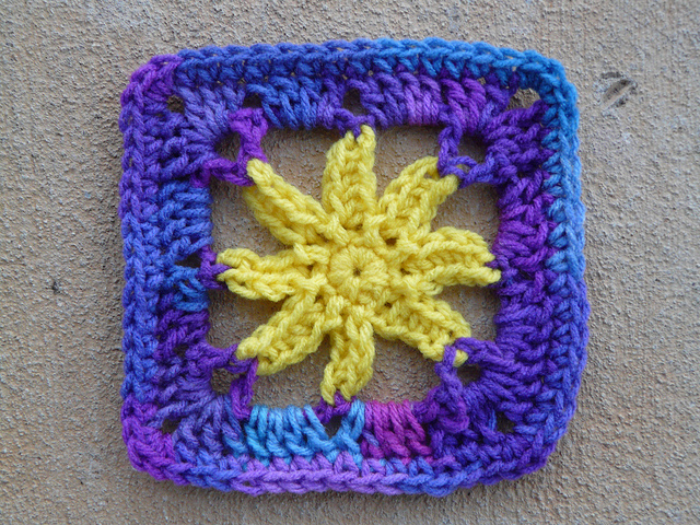 Crochet square 18 which I finished on day 28