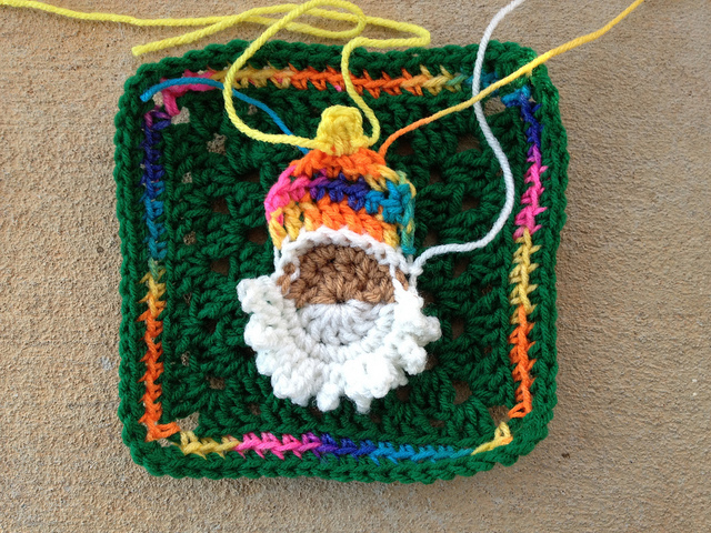 first crochet santa head
