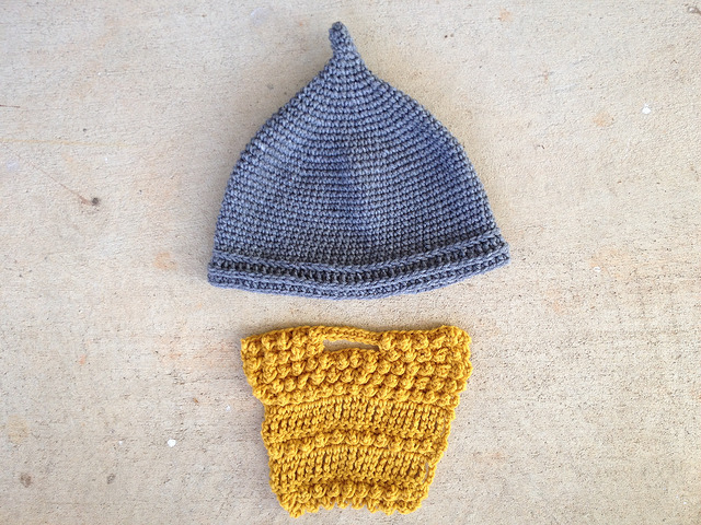 A future Assyrian crochet helmet and a crochet beard