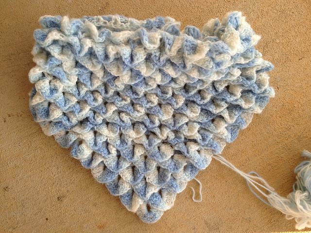 crocodile stitch crochet shawl
