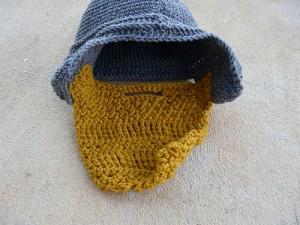 crochetbug, crochet helmet, crochet beanie, crochet hat, crochet cap, crochet beard, assyrian