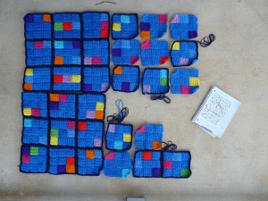 Max's very merry crochet sudoku afghan as of December 25, 2012