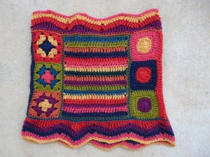 One side of the Fantascot after blocking