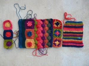 another view of the crochet pieces for the crochet ascot