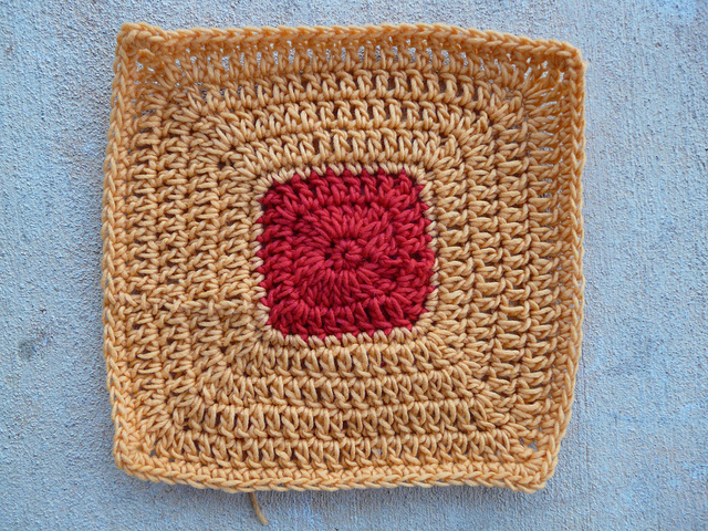 crochet potholder ready to felt