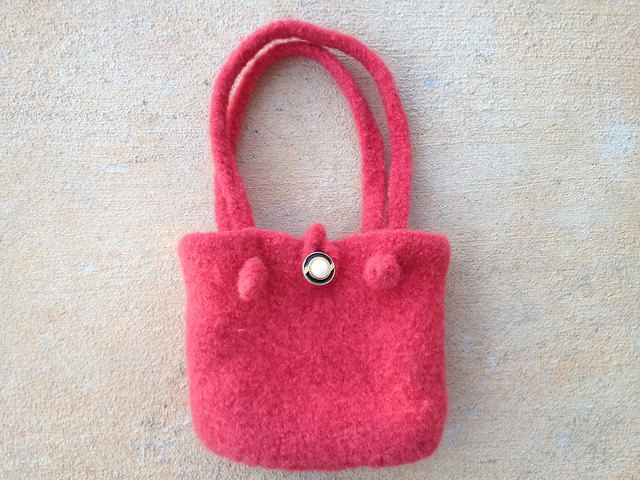felted crochet purse