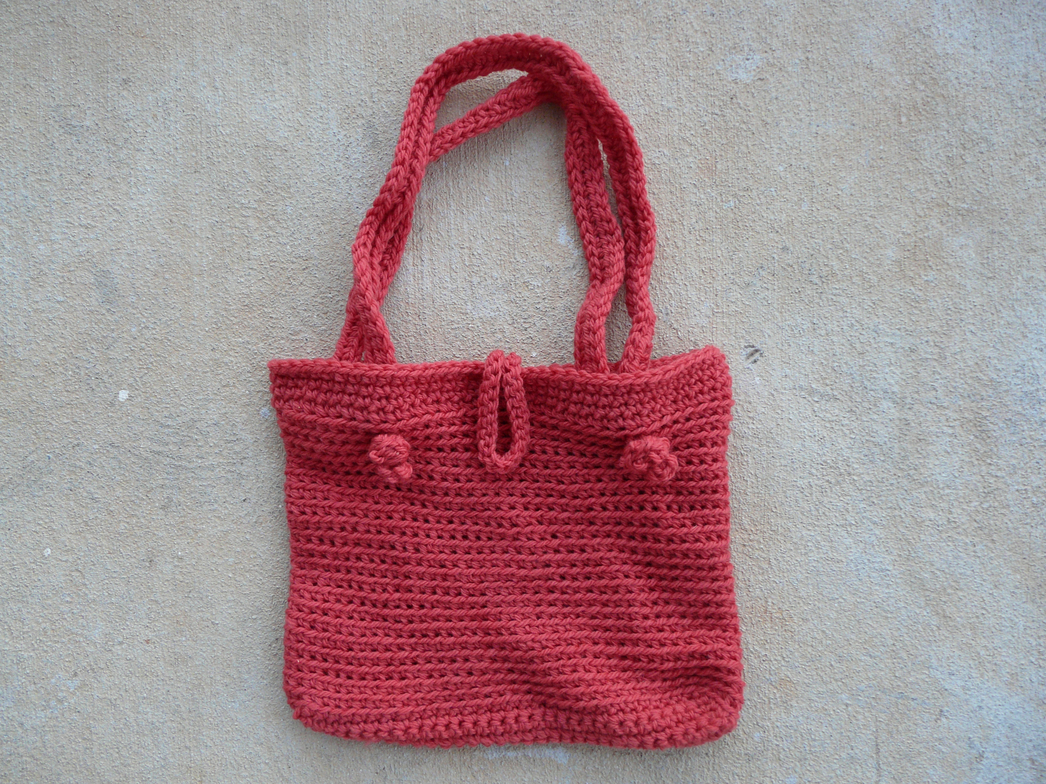 crochet purse ready to felt