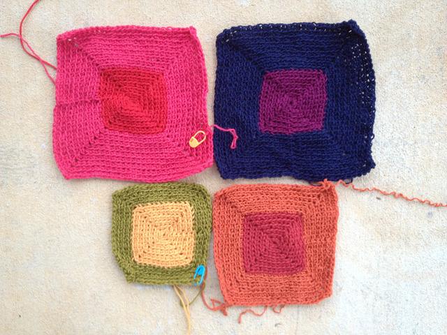 crochet square potholders