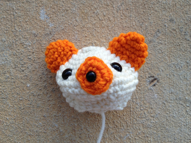 crochet bear head