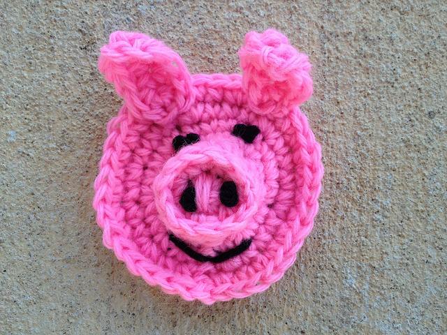 pig crochet hexagon