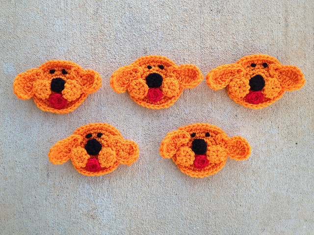 crochet dog faces