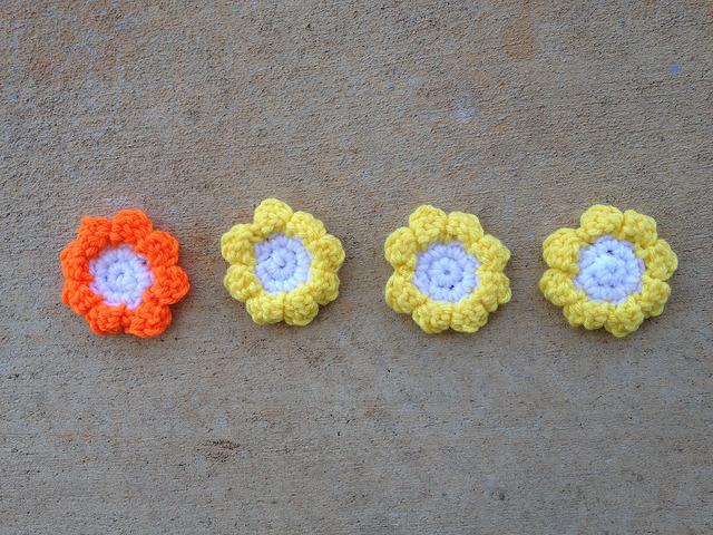 crochet flower hexagon center