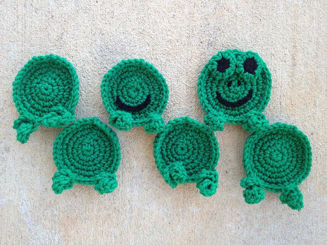 frog crochet hexagons