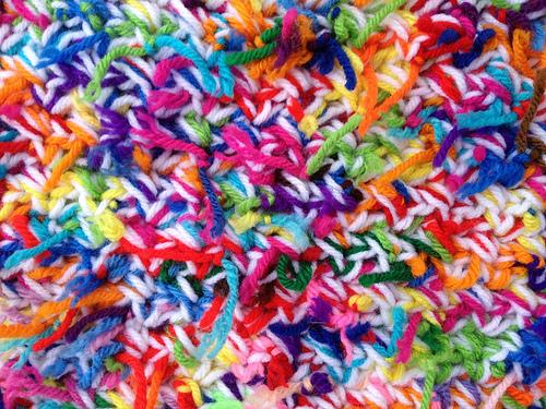 crochetbug, crochet rectangle, scrap yarn ball, tweeded crochet, crochet pet mat, kitty litter crochet mat