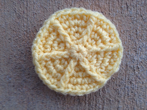 a crochet cookie inspired by lemonades