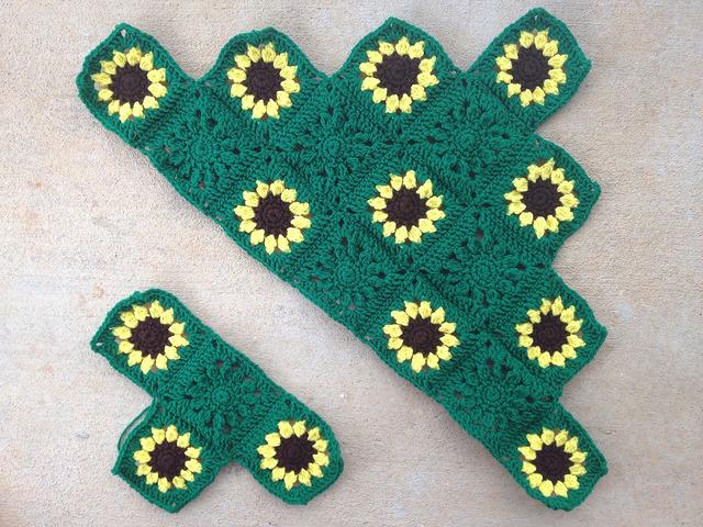 sunflower crochet blanket