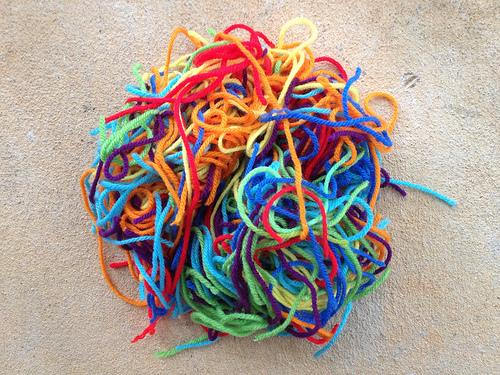 Tetrisghan yarn scraps
