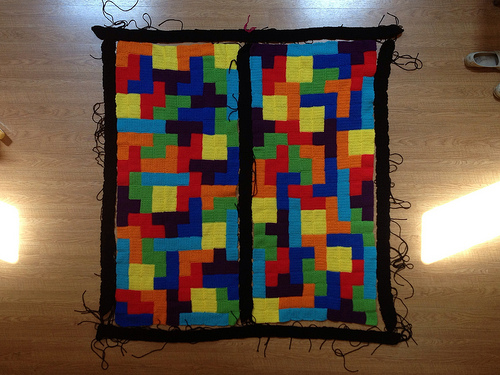 crochet border crochet tetris blanket