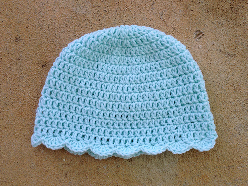 chemo crochet sleep cap