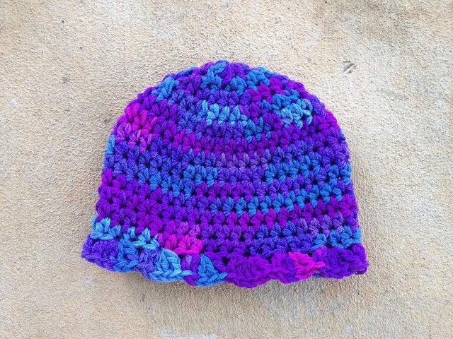 brimmed crochet hat