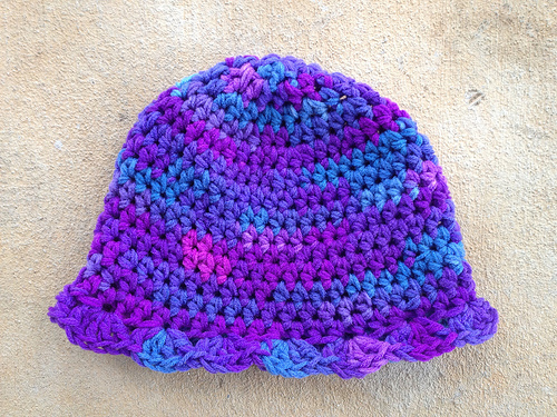 The third grape fizz crochet hat