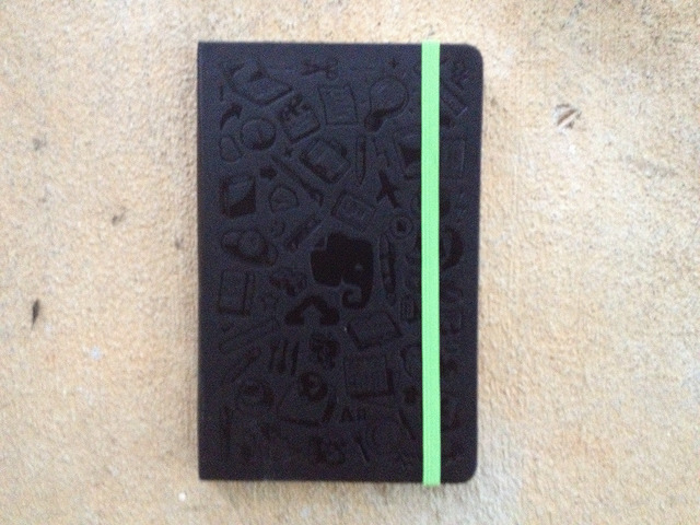 evernote moleskine notebook for writing crochet patterns