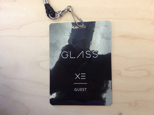 crochetbug, glass guest badge, google glass