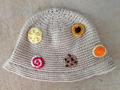 crochetbug, crochet cloche, chemo cloche, crochet cookies, crochet circles