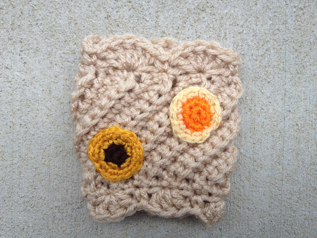 crochet cookie coffee cozy