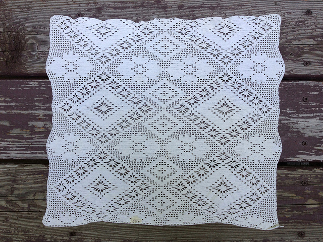 filet crochet square