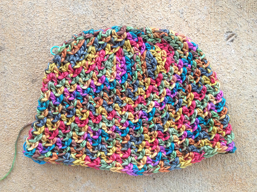 one of the crochet chemo caps