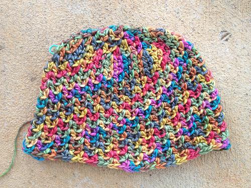 one of the crochet chemo caps